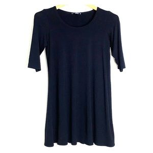 EILEEN FISHER • Tunic Black Flare Top